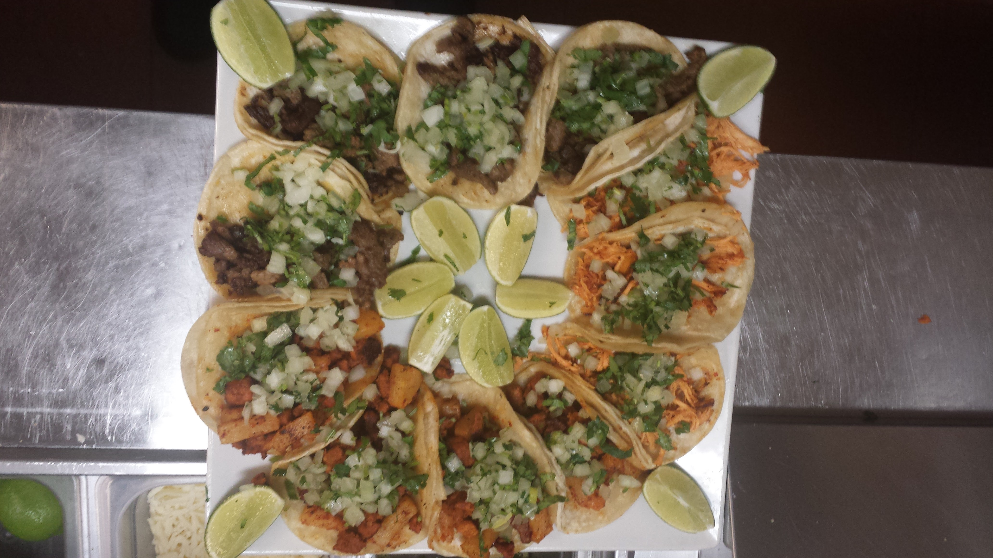 Chicken and Steak Tacos at Brodys Mexican Restaurant